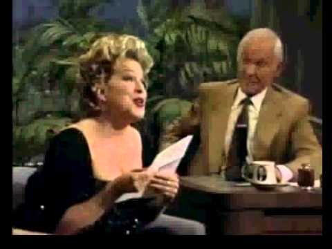 Bette MidlerYou Made Me Watch YouHere's That Rainy DayJohnny Carson1992