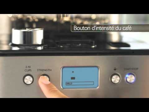 philips grind brew machine caf youtube. Black Bedroom Furniture Sets. Home Design Ideas