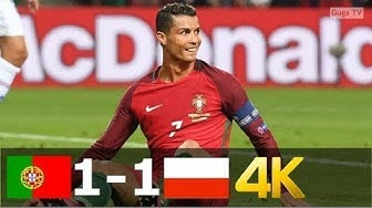 Portugal vs Poland 1-1 (pen 5-3) - UHD 4k EURO 2016 - Full Highlights (English Commentary)