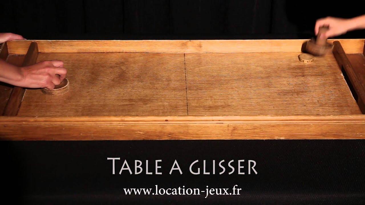 Table Glisser Jeu De Palets Louer YouTube