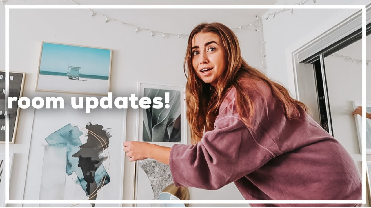 room updates, trying to do a front handspring (ouch), at-home workouts & more! | quarantine vlogs