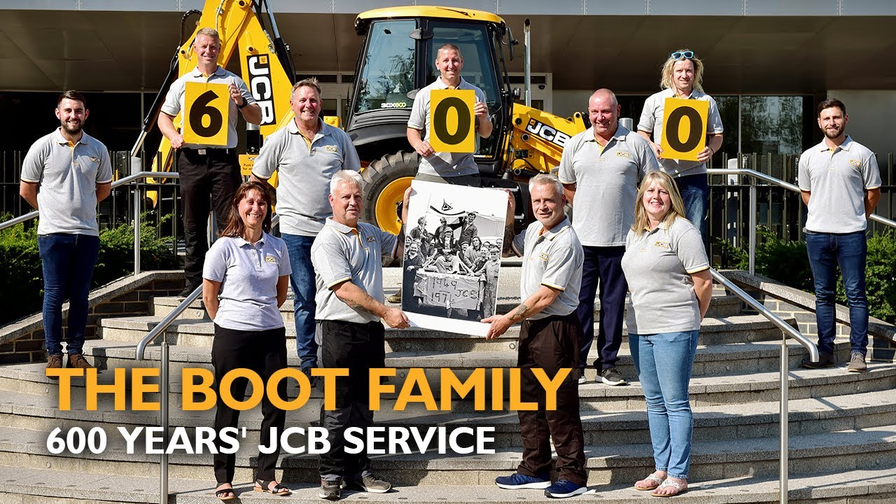 The Boot Family Celebrates 600 Years' Service on JCB's 75th Anniversary
