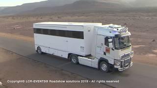 Africa Eco Race 2019 - camion prod TV sur l'Africa Race – LCR-EVENTS® Roadshow solutions