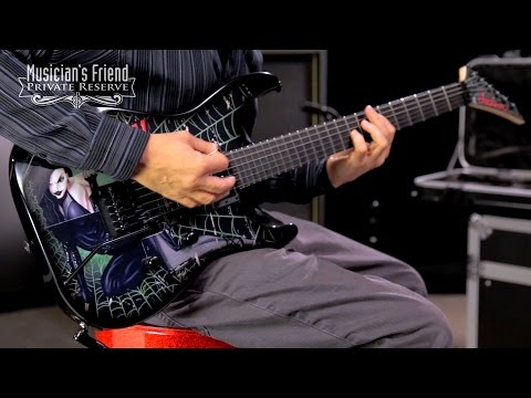 Jackson Custom Select Soloist Electric Guitar, Custom Widow Graphic