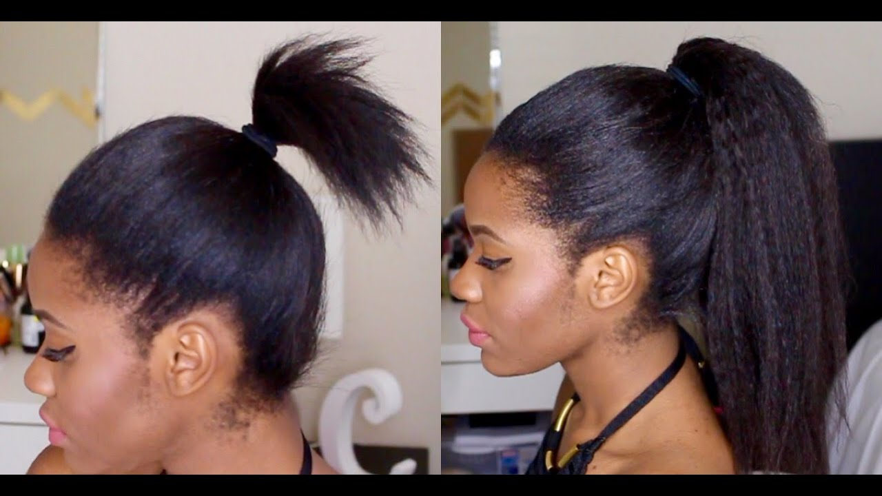 how to keep short hair in a ponytail