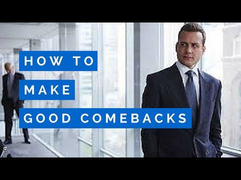 HOW TO MAKE GOOD COMEBACKS (HARVEY SPECTER EDITION)