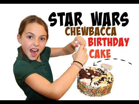 star wars chewbacca birthday cake youtube