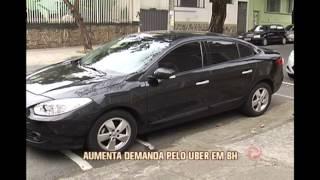 Aumenta demanda pelo Uber em Belo Horizonte