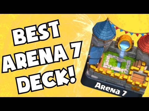 Clash Royale BEST CARDS/DECK For Arena Level 7 | Royal Arena Strategy Gameplay For Lvl 6 7 8 9