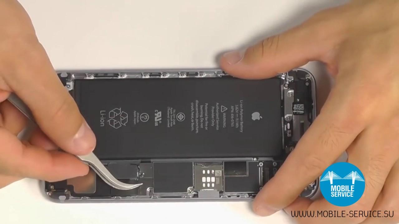 замена аккумулятора айфон 6 инструкция