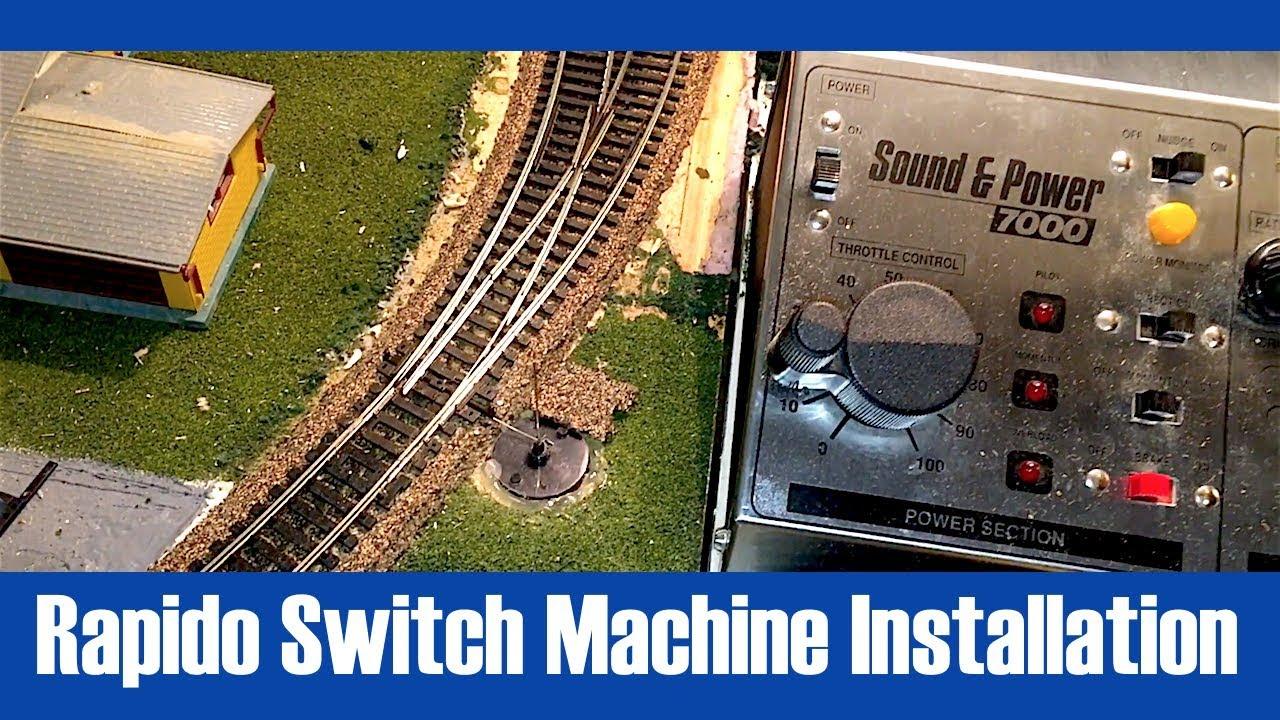 installing rapido rail crew switch machine [ 1280 x 720 Pixel ]