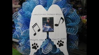 Remembrance wreath ,in honor of Christopher Thomas Wells.