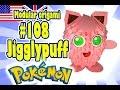 3D MODULAR ORIGAMI #108 JIGGLYPUFF / Pokémon / Pokemon / Pokemon Go