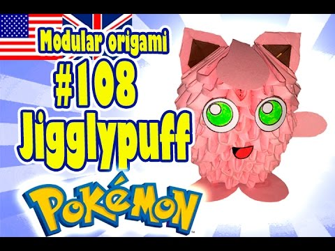 3d Modular Origami 108 Jigglypuff Pokmon Pokemon Pokemon Go