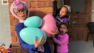 Greedy Granny Kids Pretend Play In Real Life Surprise Eggs with Toys fun video
