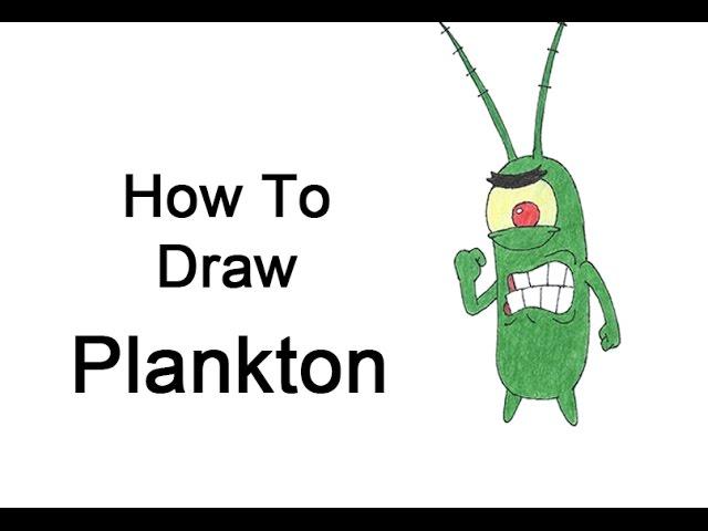 How to Draw Plankton from SpongeBob SquarePants #1
