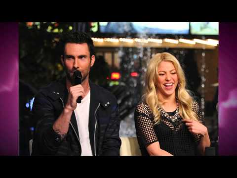 Adam Levine Can't Keep his Paws off of The Voice Co-Host SHAKIRA!