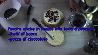 COME DECORARE UNA TORTA DI PAN DI SPAGNA