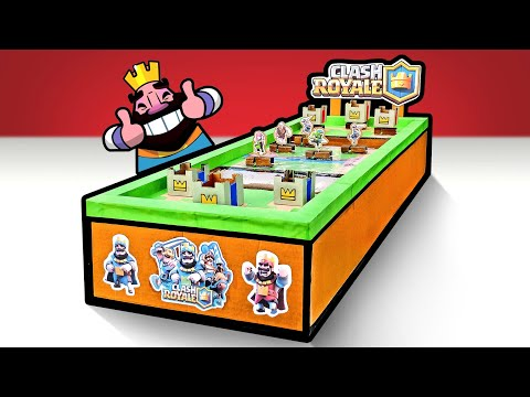 How To Make Clash Royale Game From Cardboard DIY At Home
