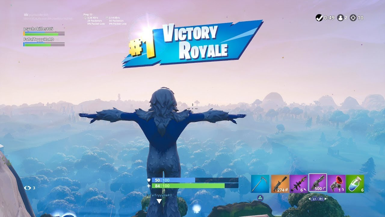 Fortnite First Win With Trog Yeti Skin Abominable Snowman Outfit