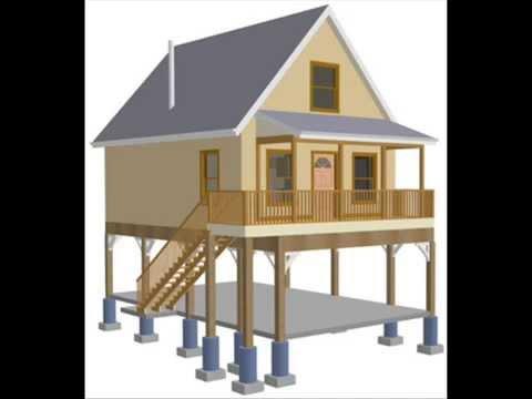 Raised Aspen Cabin Design Plan - YouTube