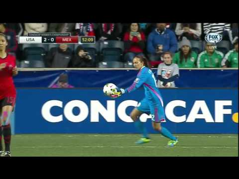 2014 CONCACAF women's championship USA v MEX 2nd half