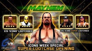 WWE Mayhem   30 Cases Opened!   SUPER Lootcase Opening!