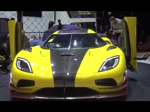 [4k] GORGEOUS Koenigsegg Agera RS in bright yellow at Geneva Salon 2016 in Ultra HD