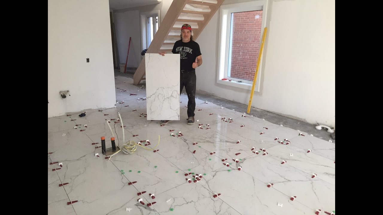 Large Porcelain Tile installation in Toronto, 2\' x 4\' or 24\