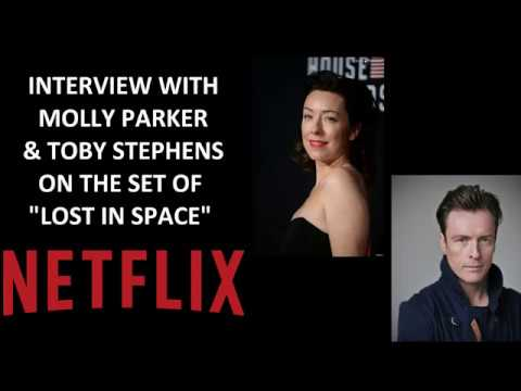 Netflix Lost in Space Set Visit: Molly Parker & Toby Stephens