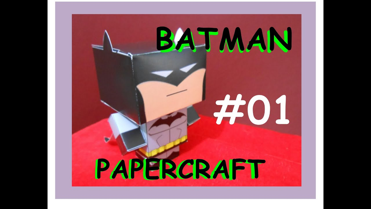 Papercraft How to Make an BATMAN Papercraft-Cardboard (free template)