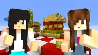 Minecraft Lucky Island - BATALHA NA ILHA DE HUMBÚGUER