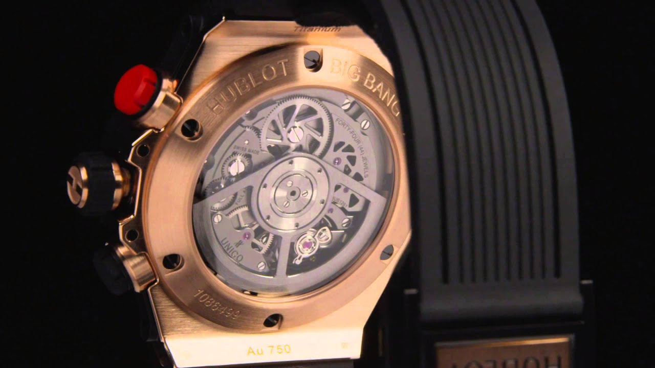 0524310ba BIG BANG UNICO BI-RETROGRADE CHRONO KING GOLD CERAMIC - YouTube