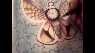 how to draw a clock butterfly part 2