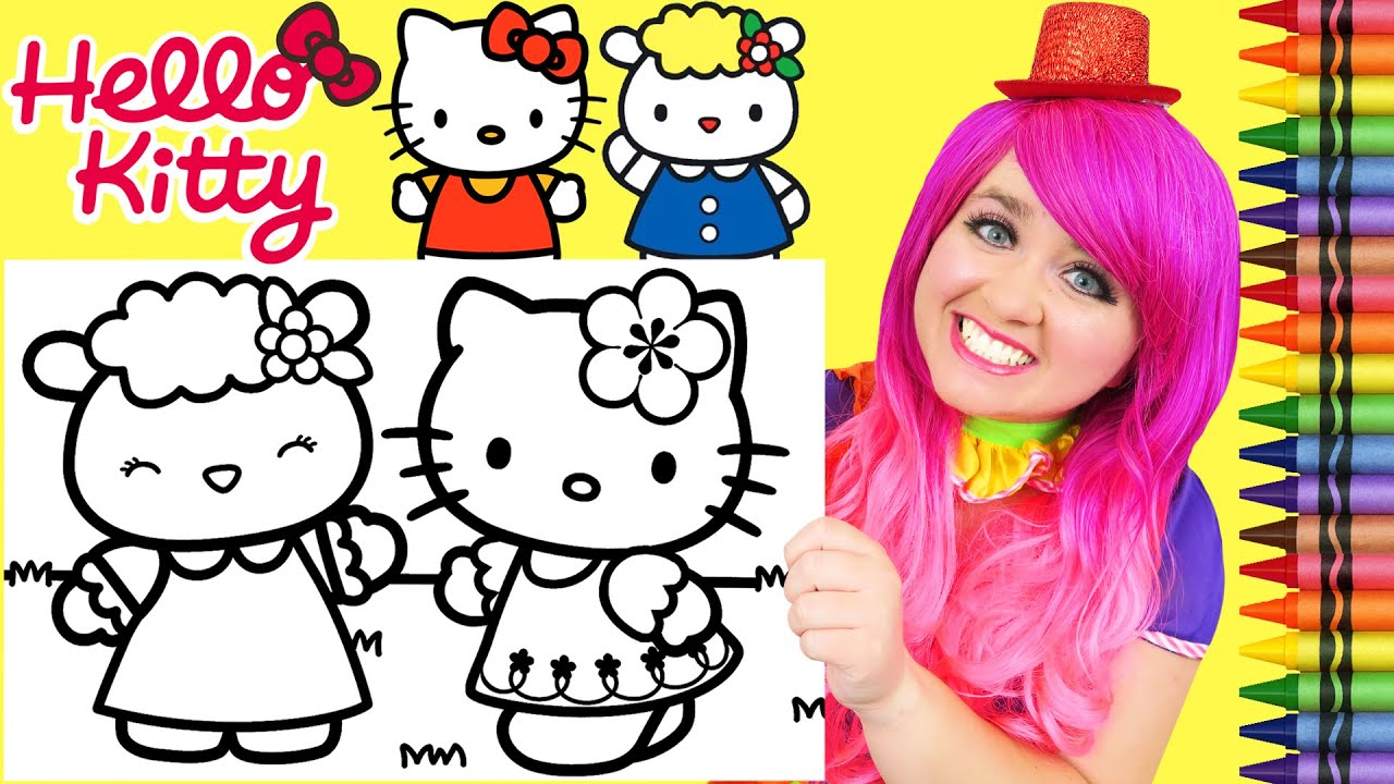 Hello Kitty and Friends Coloring Page | Hello kitty colouring ... | 720x1280