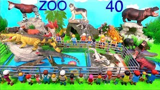 Wild Zoo Animal Toys For Kids - Learn Animal Names and Sounds - Learn Colors with Animals