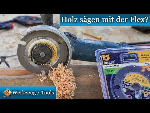 Holz sägen mit der Flex?   GRAFF Speedcutter im Test.