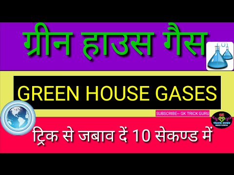 ग्रीन हाउस गैस(Greenhouse gases) की ट्रिक| important for SSC|RRB NTPC|MTS|TET|BTET|