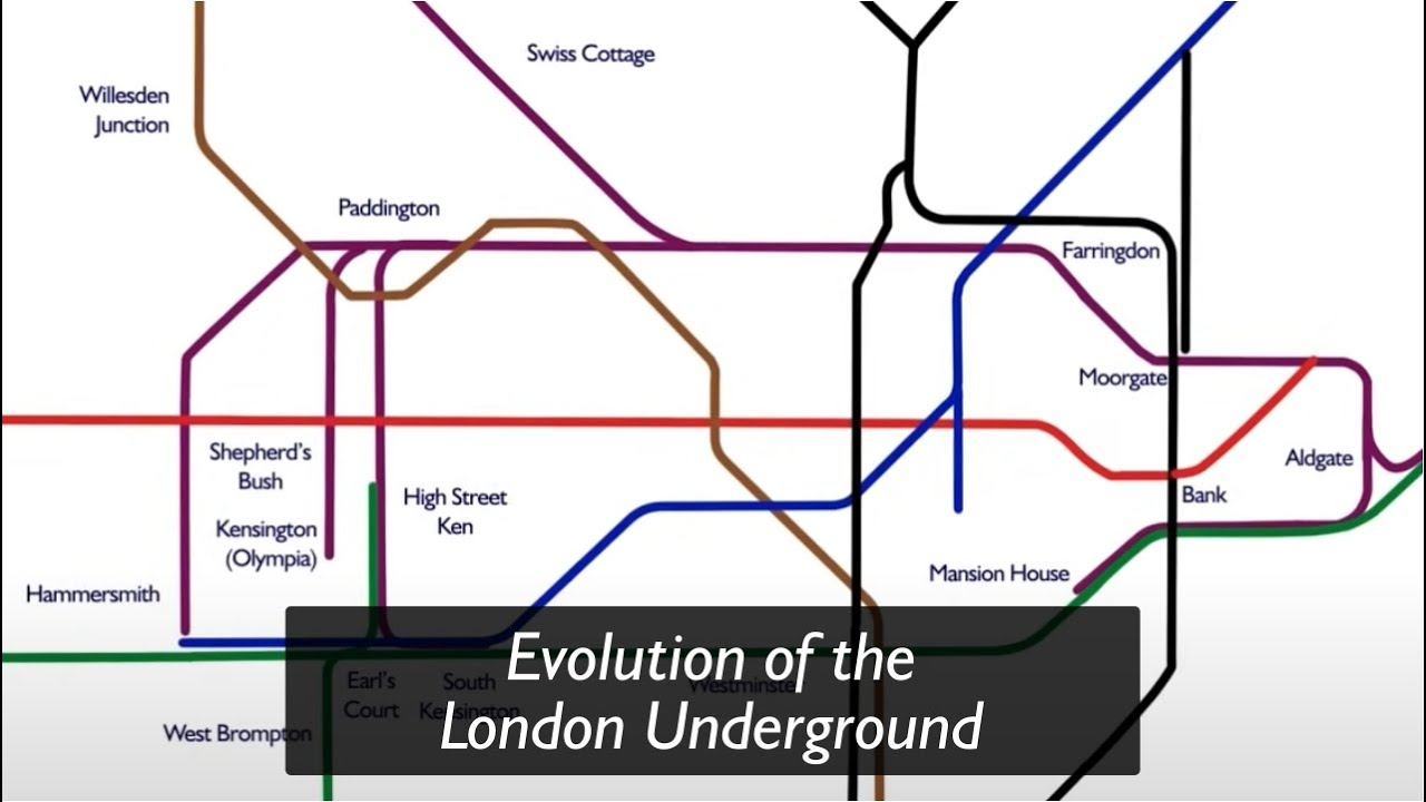 London Light Rail Map.Evolution Of The Underground