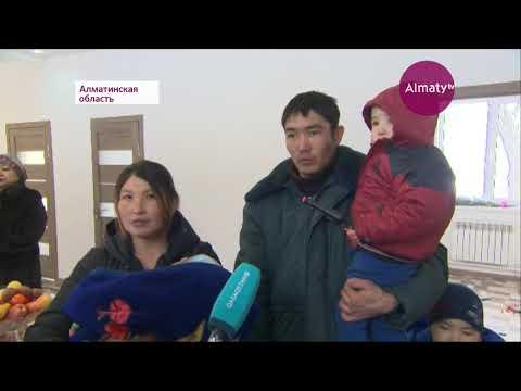 Проживавшей в бане многодетной семье подарили дом в Талгаре  (14.02.19)