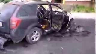 Поджог авто - зафиксировала камера