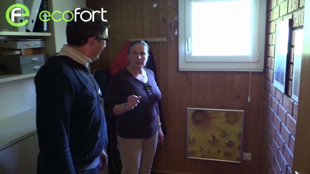 infrarotheizung erfahrung ersatz der elektrospeicherofen youtube. Black Bedroom Furniture Sets. Home Design Ideas
