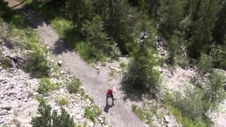 Running track around the mountain peaks - 2014 HD 720p