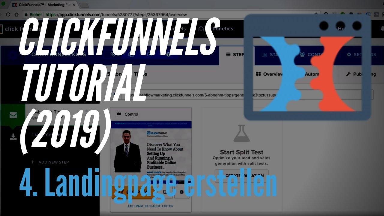 Clickfunnels Tutorial deutsch (2019) - 4. Landingpage erstellen