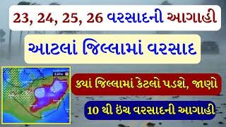 હવામાન વિભાગની આગાહી, Gujarat rain, Weather forecast, ભારે વરસાદની આગાહી,