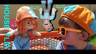 Blippi toys FLIP A HOUSE | Handyman for kids video | Blippi Dressed Toddler | BLIPPI GIRL | Morphle