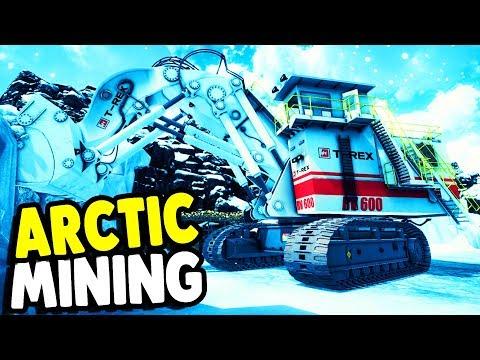 HUGE Arctic Mining DIGGER & NUKE MINING | Giant Machines 2017 Gameplay