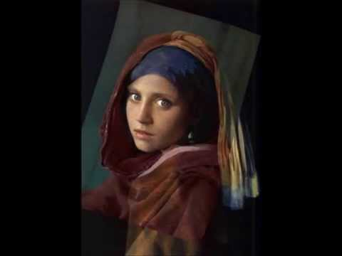 Afghan Girl with pearl earring