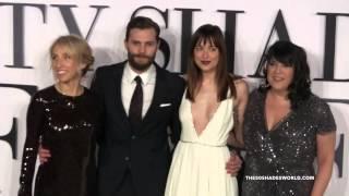 'Fifty Shades' UK Premiere 2015 - Sam Taylor-Johnson, Jamie Dornan, Dakota Johnson, E L James
