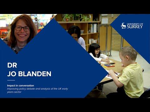 Play video: Impact in Conversation: Dr Jo Blanden | University of Surrey